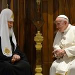 Встреча Святейшего Патриарха Кирилла с Папой Римским Франциском